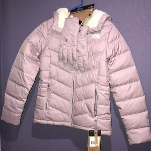 Womens north face coat & gloves